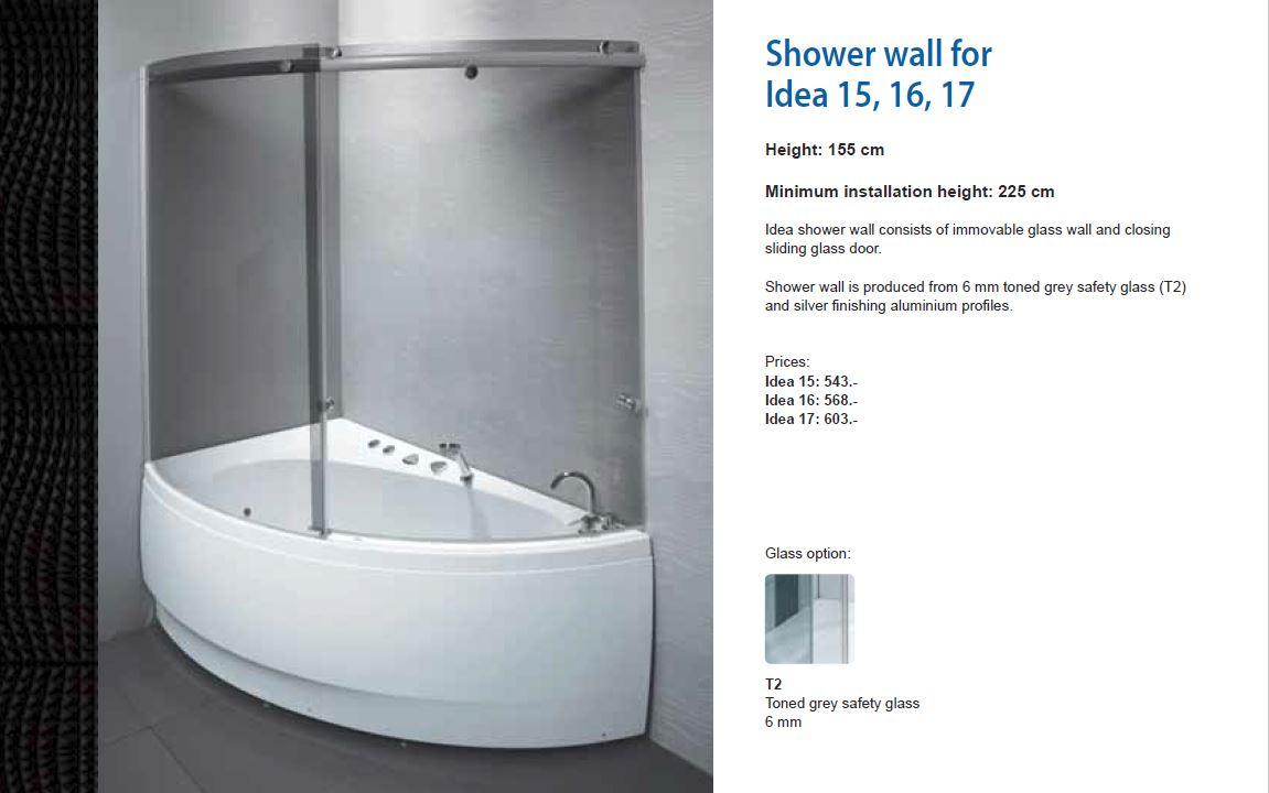 Duschvägg till badkar Idea — Balteco : badkar med duschvägg : Badkar